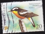 Stamps Singapore -  SINGAPUR - AVES YELLOW RUMPED FLYCATCH