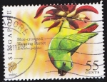 Stamps Singapore -  SINGAPUR - AVES BLUE CROWNED HANGING PARROT