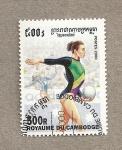 Stamps Asia - Cambodia -  Gimnasia rítmica