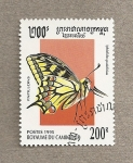 Stamps Asia - Cambodia -  Mariposa Iphiclides podalirius