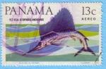 Stamps : America : Panama :  Pez Vela: Istiophorus Americanus