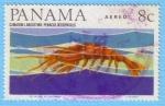 Stamps : America : Panama :  Camarón Langostino: Penacus Occidentalis