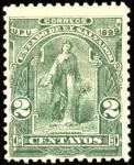 Stamps El Salvador -  Mujer con hoz y cosecha. UPU 1899.
