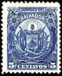 Stamps El Salvador -  Escudo antiguo de El Salvador. UPU 1895.