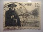 Stamps Colombia -  Homenaje al Presbitero  RAFAEL ALMANZA 1840-1927