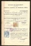 Stamps : Europe : Spain :  Documento con sellos de recibos.