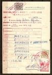 Stamps : Europe : Spain :  Documento de Admision a Convocatoria.