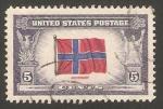 Stamps United States -  467 - Bandera de Noruega
