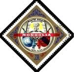 Sellos de Asia - Mongolia -  Asamblea, banderas  O.N.U. y Mongolia.