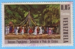 Stamps : America : Venezuela :  Danzas Populares - Sebucán o Palo de Cintas