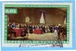 Stamps : America : Venezuela :  Sesquicentenario de la declaración de Independencia