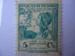 Stamps Colombia -  Loor de la Constitución y las Leyes.