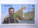 Stamps America - Colombia -  José Prudencio Padilla (1784-1828) - Bicentenario de su nacimiento