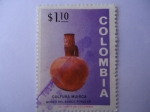 Stamps of the world : Colombia :  CULTURA MUISCA-Museo del Banco Popular.