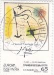 Stamps Spain -  Fundació Joan Miró- La Bague d'Aurora 1957    (D)