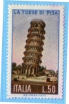 Sellos de Europa - Italia -  La torre de Pisa