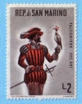 Stamps : Europe : San_Marino :  Falconiere Sec. XVI