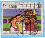 Stamps : America : Ecuador :  Navidad - 1967