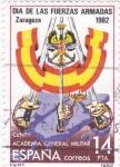 Sellos de Europa - España -  día de las fuerzas armadas- Zaragoza       (D)