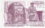 Sellos de Europa - España -  patrimonio mundial de la humanidad - monumento a Maimonddes -Córdoba   (D)