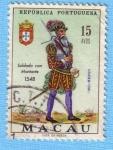 Stamps : Asia : Macau :  Soldado con Montante