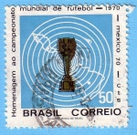 Stamps : America : Brazil :  Homenaje al campeonato mundial de fútbol