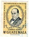 Stamps : America : Guatemala :  DOCTOR RODOLFO FLORES - DESCUBRIDOR DE LA ONCOCERCOSIS AMERICANA
