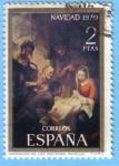 Stamps : Europe : Spain :  Adoración de los pastores