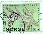 Stamps : Europe : Norway :  DEN OFFENTLIGE SKOGADMINISTRASJON