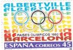 Sellos de Europa - España -  Paises Olímpicos -92 Albertville-Barcelona    (D)