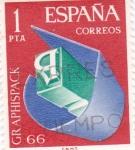Sellos de Europa - España -  Salón de Artes Gráficas, envase y embalaje    (D)