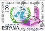 Stamps Spain -  XXV aniversario de la fundación de Naciones Unidas    (D)