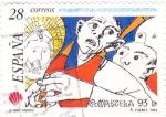 Sellos de Europa - España -  Caras con ojos de asombro     (D)