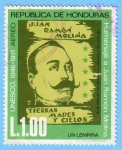 Stamps : America : Honduras :  Homenaje a Juan Ramón Molina