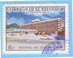 Stamps : America : El_Salvador :  Hospital del Seguro Social
