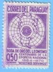 Stamps : America : Paraguay :  Boda de oro del Leonismo