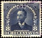 Sellos del Mundo : America : El_Salvador : Dr. Tomás G. Palomo.