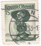 Stamps : Europe : Austria :  trajes típicos