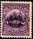 Sellos de America - El Salvador -  República mayor de Centro América. UPU 1898. sobreimpreso franqueo oficial.