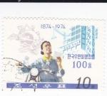 Sellos de Asia - Corea del norte -  centenario 1874-1974