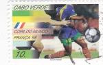 Stamps Cape Verde -  copa del mundo Francia-98
