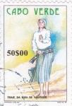 Sellos del Mundo : Africa : Cabo_Verde : Traje típico de la isla de Santiago
