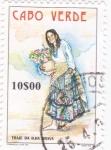 Stamps : Africa : Cape_Verde :  Traje típico de la isla de Brava
