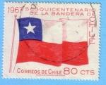 Stamps : America : Chile :  Sesquicentenario de la bandera de Chile