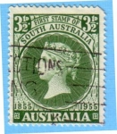 Stamps : Oceania : Australia :  Firs Stamp of South Australia