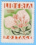 Stamps : Africa : Liberia :  Mussaenda Isertiana
