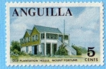 Stamps : America : Anguila :  Old plantation house, mount fortune
