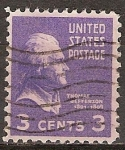 Sellos de America - Estados Unidos -  Thomas Jefferson.