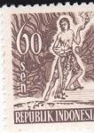 Sellos de Asia - Indonesia -  indígena