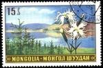 Stamps Mongolia -  Paisajes con flores dianthus superbus.